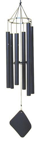 Music of the Spheres Aquarian Mezzo Wind Chime (Model AM) Color: Black Outdoor, Home, Garden, Supply, Maintenance