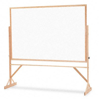 Quartet Reversible Easel - Whiteboard/Bulletin Board, 4 feet x 6 feet, Hardwood Frame (WPCR406-402) by Quartet