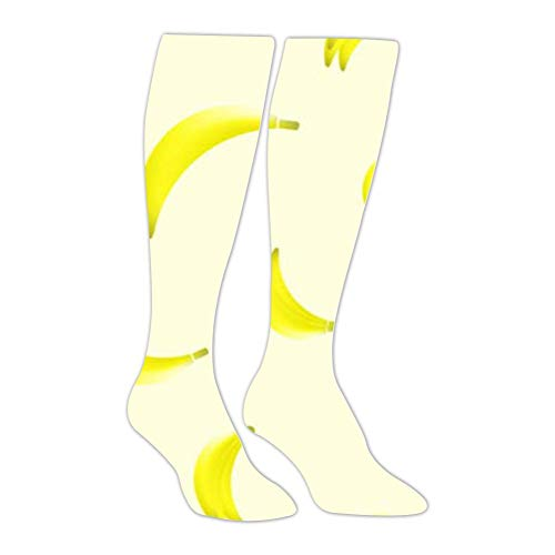 (Knee High Stockings Amazing Banana Long Socks Sports Athletic for Man and Women)