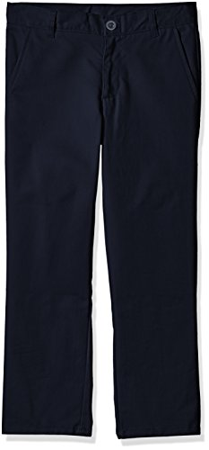 Nautica Boys' Flat Front Twill Double Knee Pant,NAVY,12H