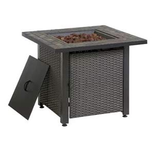 Endless Summer 30-in W 50000-BTU Grey Tabletop Steel Propane Gas Fire Table by Endless Summer (Image #1)