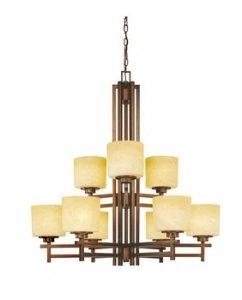 - Dolan Designs 2812-133 Roxbury 9 Light 2 Tier Chandelier, English Bronze