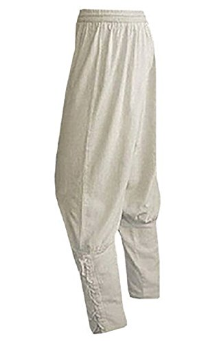 Makkrom Mens Ankle Banded Pants Medieval Lace Up Pirate Costume Trousers Viking Renaissance Mercenary Gothic Cosplay Pants -