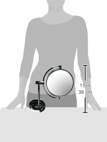 Jerdon HL165CD 8-Inch Lighted Wall Mount Direct Wire Makeup Mirror with 5x Magnification, Chrome Finish by Jerdon (Image #4)