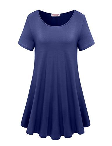 3df57b02d39 BELAROI Women's Short Sleeve Tunic Tops Plus Size T Shirt Blouses S ...