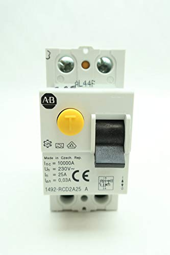 ALLEN BRADLEY 1492-RCD2A25 Residual Current Device 2P 25A 230V-AC SER A D652305