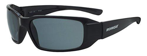 Ironwear Waterford 3015 Series Nylon Protective Safety Glasses, Polarized Lens, Shiny Black Frame (3015S-P)