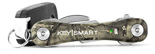 KeySmart Pro - Compact Key Holder w LED Light & Tile Smart Technology, Track Your Lost Keys & Phone w Bluetooth (up to 10 Keys, Mossy Oak)