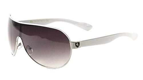 Mens Flat Top Sport Shied Aviator Sunglasses - Multiple Colors (Top Mens Sunglasses)