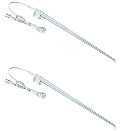 Affordable Fixtures - 2-Pack T5 HO Grow Light - 1 Bulb Light System - Fluorescent Hydroponic Indoor Fixture Bloom Veg Daisy Chain with Bulbs (4 Foot & no Reflector (DL8041 2pack), Cool White | Vegetative)