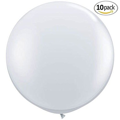 "MOWO 36"" Giant Latex Balloon Clear for Birthday/Wedding/Chiristmas Event Party Balloon (clear,10pc)"