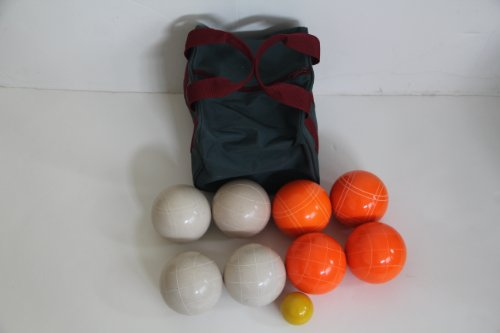 Premium Quality EPCO Tournament Set - 110mm White and Orange Bocce Balls [Toy] by Epco