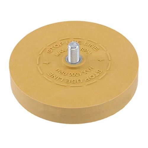 (Lemoning❤ Rubber Eraser Wheel 3.5 Inch 88mm Decal Removal Pinstripe Sticker Decal Remover Black)