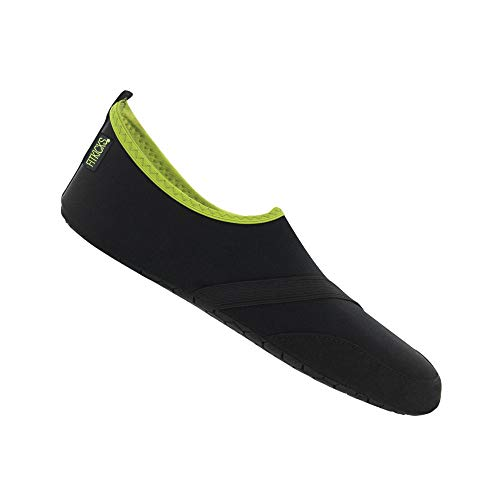FitKicks Original Mens Edition Foldable Active Lifestyle Minimalist Footwear Barefoot Yoga Water Shoes Black