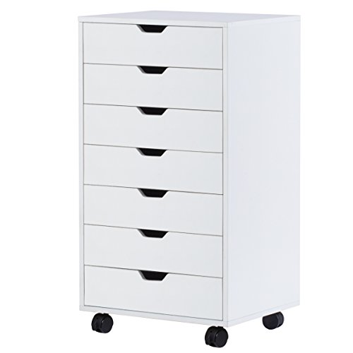 DEVAISE 7-Drawer Mobile Cabinet for Office & Closet in (Seven Drawer Chest)