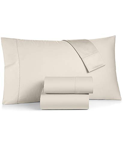 Charter Club Damask Solid Extra Deep Pocket Queen 4 Pieces Sheet Set, 550 Thread Count 100% Supima Cotton Ivory (Queen Sheet Set Charter Club)