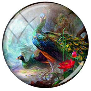 Vintage Bird Clipart - Laliva TAFREE Vintage Birds Hummingbird Clip Art Picture 25mm DIY Glass Cabochon Dome Charms for Keychain Necklaces Jewelry Findings - (Color: B778, Size: 25mm)
