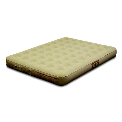 Ez Inflate Queen Size Suede Airbed With Built in Pump, Outdoor Stuffs