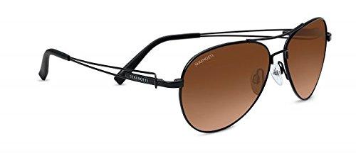 Serengeti Brando Sunglasses, Satin Black Frame, Drivers Gradient (Serengeti Wire)