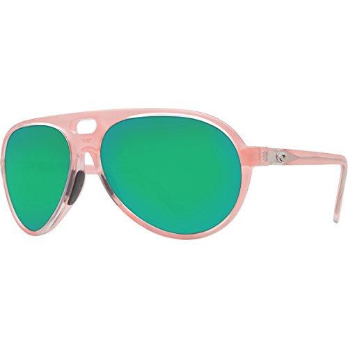 Costa Grand Catalina Polarized Sunglasses - 400G Glass Lens Coral/Green Mirror, One - Lenses Costa 400