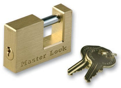 Master Lock 605DAT Solid Brass Trailer Hitch Coupler Lock...