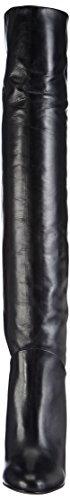 Buffalo LondonES 30602 XS ANILINA - Botas por encima de la rodilla con forro para mujer Negro (PRETO 01)