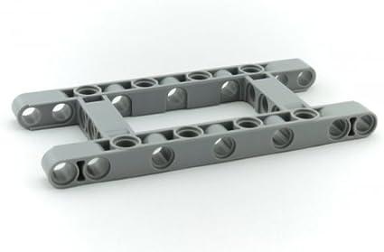 Lego 100 New Dark Bluish Gray Technic Liftarm 1 x 7 Thick Pieces