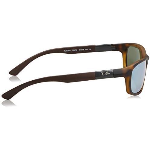 61fce5b78b Ray-Ban Junior Gafas de sol envolventes en la Habana mate Gris espejo  RJ9056S 702730
