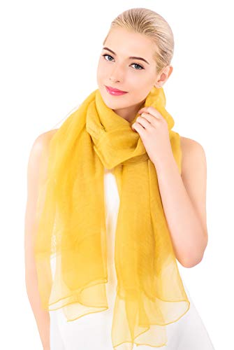 (ADVANOVA Silk Wool Scarf for Women, Evening Wraps for Prom (Ginger))