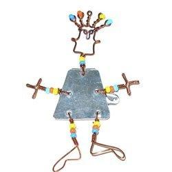 Global Crafts KJW002-154002 Dancing Girl Pin with Beads
