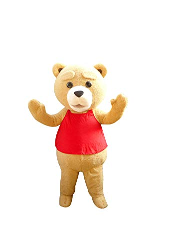 Teddy Bear Ted Adult Mascot Costume Cosplay Fancy Dress Outfit -