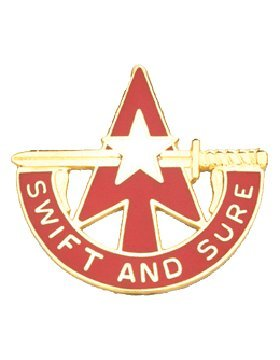 32nd Army Air and Missile Defense Cmd Unit Crest (Swift And Sure)
