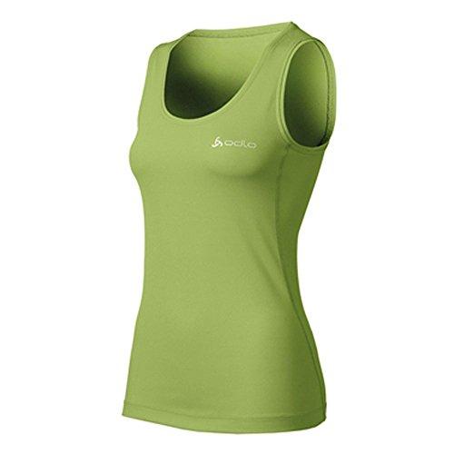 Odlo maillot à col roulé débardeur pour femme idéal pour le camping et l'extérieur -  Vert - Medium