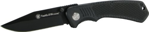 Smith and Wesson CH0014 Black Clip Point Blade and Black Aluminum Insertable Handle with pocket clip, Outdoor Stuffs