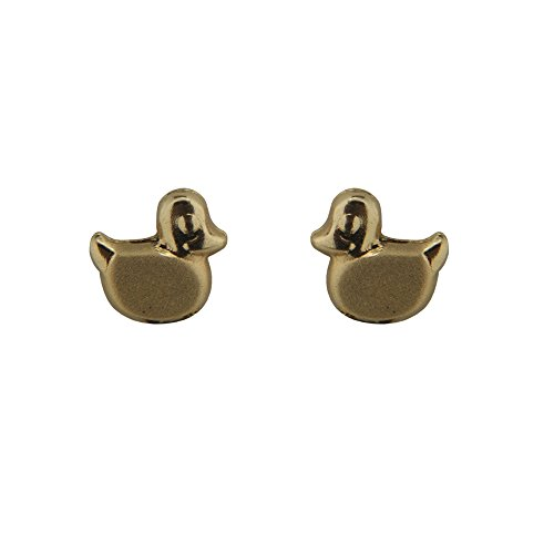 18K Yellow Gold Duck Screwback Earrings (5mm) by Amalia