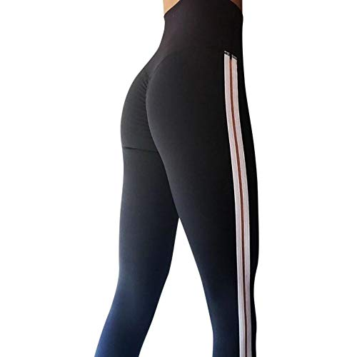 3439853f2dc71 URIBAKE ❤ Women's Workout Leggings Mid Waist Striped Fitness Sports Gym  Running Yoga Athletic Pants