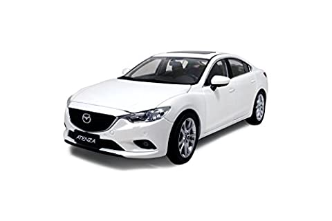 Mazda 6 Atenza Sedan 2014 1/18 Scale Diecast Model Car White by PaudiModel (Cars Infinity)