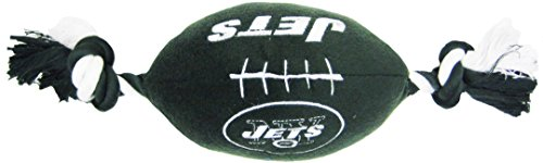 Pets First NFL NEW YORK JETS Football Pet Plush Football Rope Toy. - Dog Toy with inner - Art New York Jets