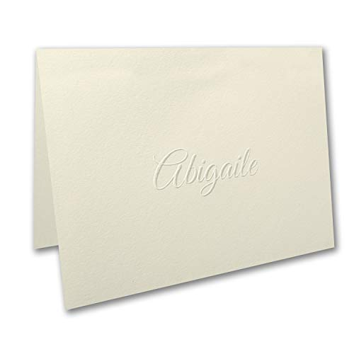 250pk Simply Perfect - Large Note Folder - Embossed - Ecru-Personal Stationery by Carlson Craft (Image #1)