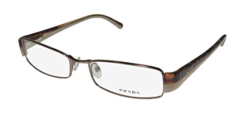 Prada Vpr53h Mens/Womens Designer Full-rim Flexible Hinges Eyeglasses/Eyeglass Frame (52-16-135, Brown / Tortoise / Nude) - Prada Gold Tortoise Lens