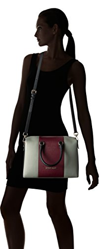 Jeans Saffiano Armani Taupe Nero Boston Bag Burgundy Eco 7qqzdxZ
