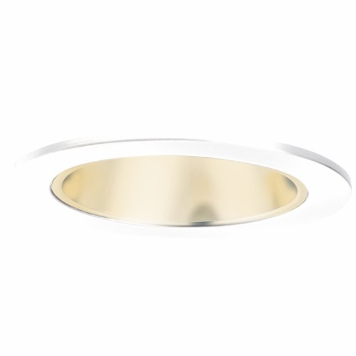 HALO Recessed 999RG 4-Inch Trim Cone with Residential Gold Reflector, White