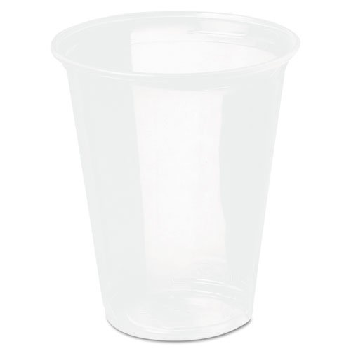 Reveal Plastic Cold Cups, 16 Oz, Clear, Flush Fill, 50/bag