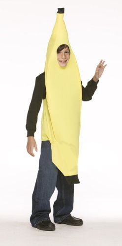 Make A Banana Costume (Rasta Imposta Lightweight Banana Children's Costume, 7-10, Yellow)