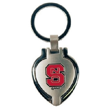 NCAA North Carolina State Wolfpack Metal Heart Locket Keychain ()