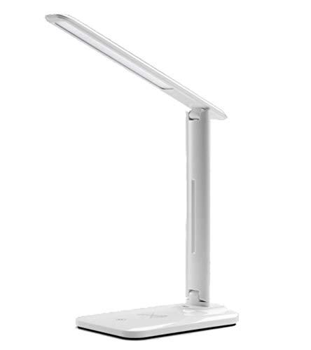 SR T.C-LAMP Lámpara de Mesa, Wireless Cargador Lateral lámpara de ...