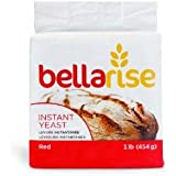 Bellarise Instant Dry Yeast - 1lb Superior Bread Yeast Variety Pack ( Red and Gold ) each 1 Pack