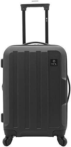 Travelers Club Expandable Spinner Hardside Luggage Set, Black, 20-Inch