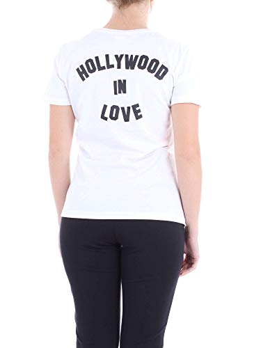 Mujer Tirantes Jersey Blanco T Cotone shirt Para Pinko Spontaneo Di Camiseta De w6qS8Ovt
