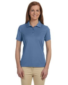 (Devon & Jones Women's Short Sleeve Dri-Fast Advantage Solid Mesh Polo Golf Shirt DG385W blue X-Large)